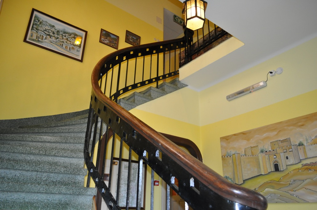 Stairs To The Second Floor Of Hostel